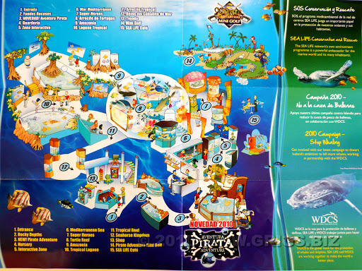 sea life map